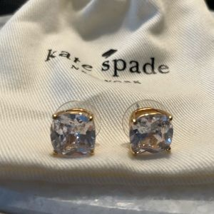 Kate Spade Clear/Gold Gumdrop Stud Earrings